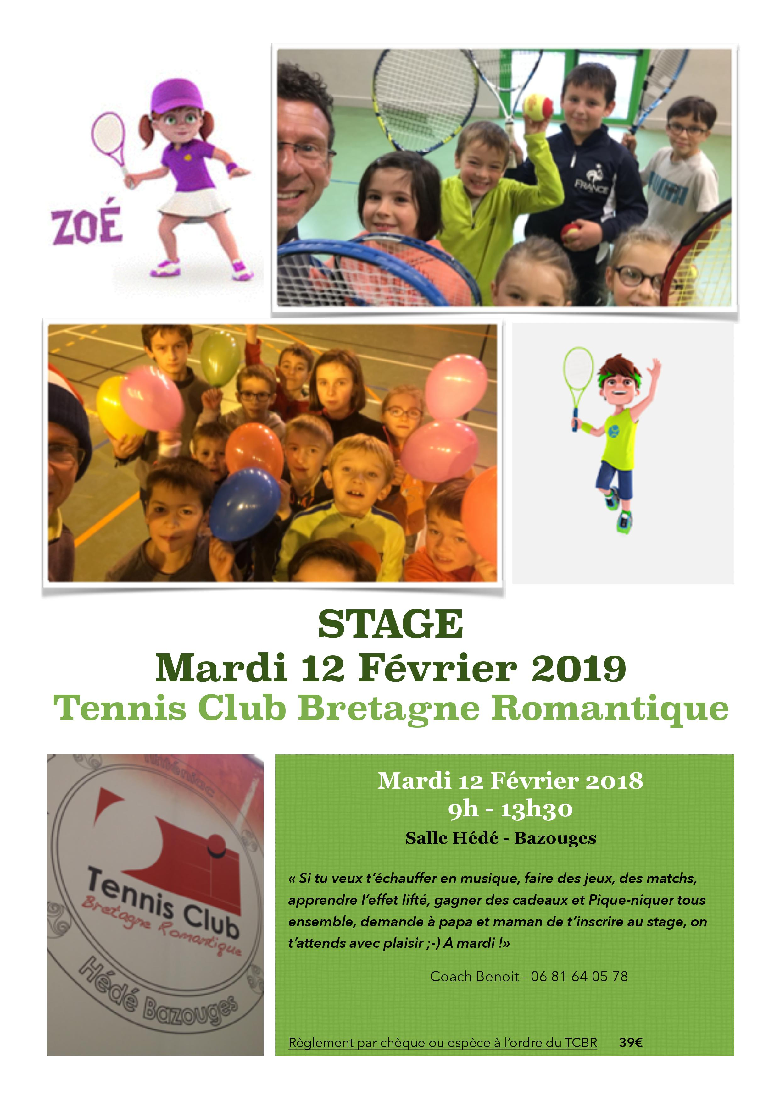 Stage Tennis Tinténiac/Hédé 2019/02